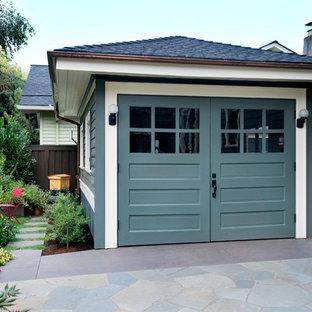 Garage - craftsman detached one-car garage idea in Portland
