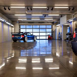 Idéer för mycket stora funkis tillbyggda trebils garager och förråd