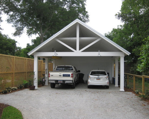 Diy carport houzz for Traditional garage
