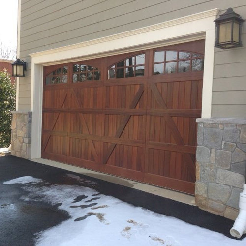 wood and composite carriage garage doors