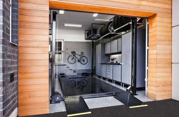 コンテンポラリー ガレージ by Garage Living