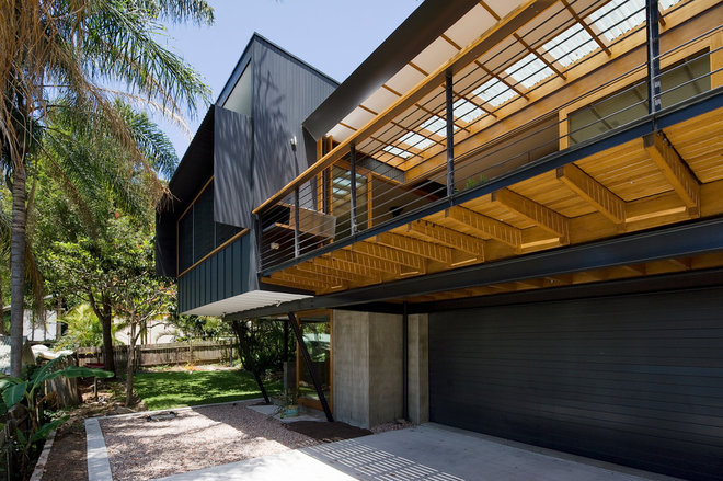 Contemporary Garage And Shed by Matt  Elkan Architect
