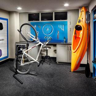 Inspiration for a transitional garage workshop remodel in Denver