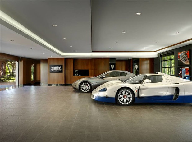 Contemporary Garage by American Custom Lifts