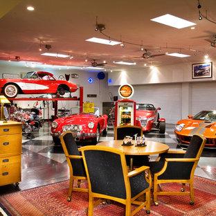 Contemporary garage workshop in Phoenix.