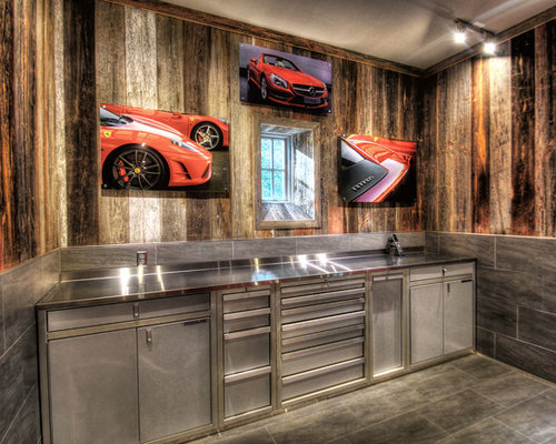 Rustic Garage Home Design Ideas, Pictures, Remodel and Decor