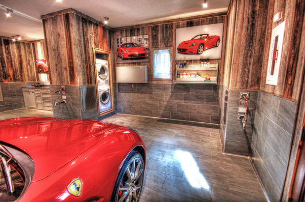 Rustico Garage by Sandcastle Constructors