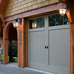 traditional garage and shed by Murphy & Co. Design