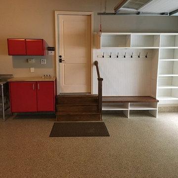 Racing Red Garage storage