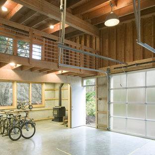 Foto di un garage per un'auto minimal