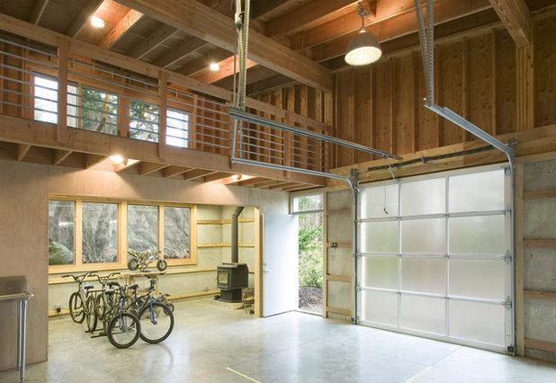 Contemporary Garage by Prentiss Balance Wickline Architects