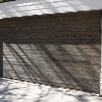 Real wood overhead garage doors