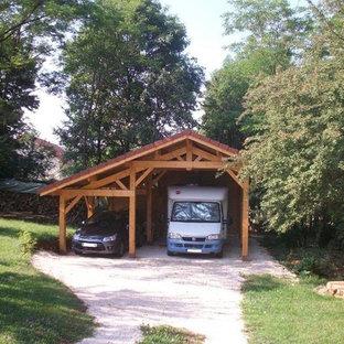 Cette image montre un garage design.