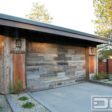 Reclaimed Wood Garage Doors for a Modern Industrial Home in Northern California