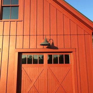 Foto di garage e rimesse connessi country di medie dimensioni con ufficio, studio o laboratorio