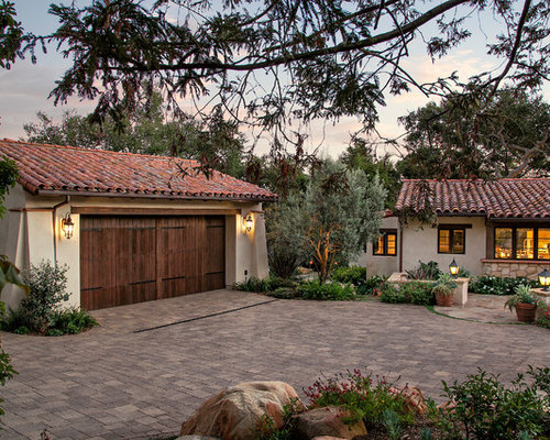 Mediterranean Garage And Shed Design Ideas Pictures