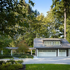 Traditional Garage And Shed by AKJ Architects LLC
