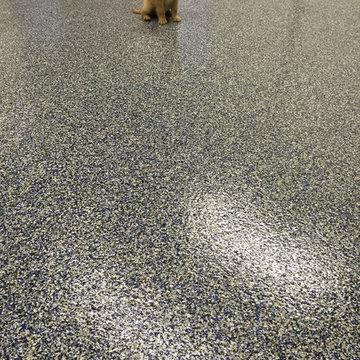 Residential Decorative Chip Epoxy Garage Floor