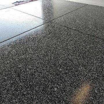 Residential Epoxy-Chip Garage Floor