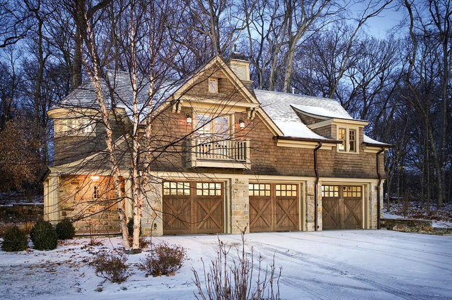 Traditional Garage And Shed by Bosenberg and Company Landscape Architects