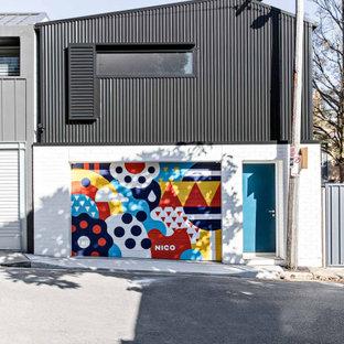 Inspiration för små moderna fristående enbils kontor, studior eller verkstäder
