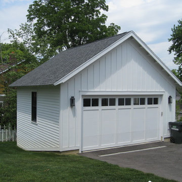Roof & Gutter Installation on house and garage, Barrington IL