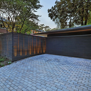 Inspiration for a medium sized modern double garage in Toronto.