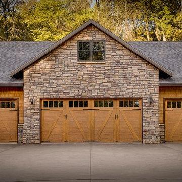 Rustic Iowa Timber Home