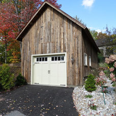 Farmhouse Garage And Shed by StoriedBoards