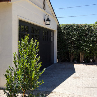 Design ideas for a mid-sized transitional detached two-car garage in Santa Barbara.