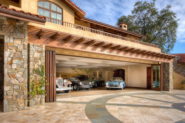 Mediterranean Garage And Shed by Brian David Peters AIA