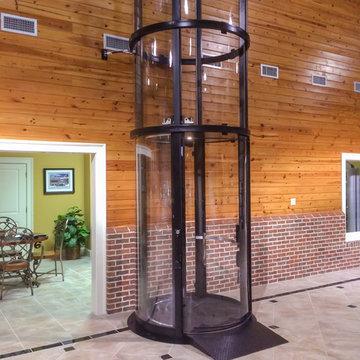 Savaria Vuelift Home elevator - Round - Garage