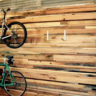 Inspiration for a rustic garage remodel in Austin