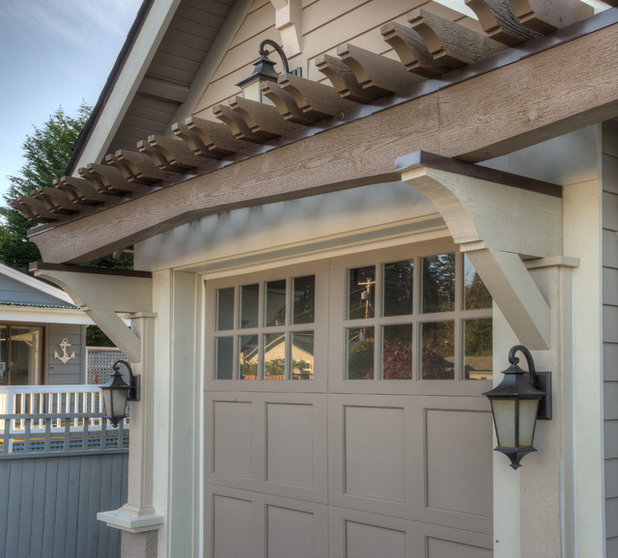 Tale Of 2 Car Shelters Craftsman Garage And Contemporary