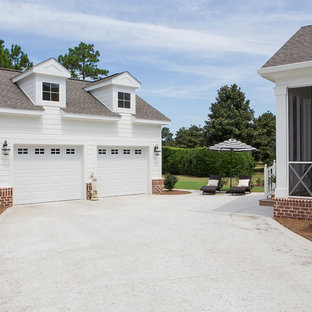 This is an example of a romantic garage in Charleston.