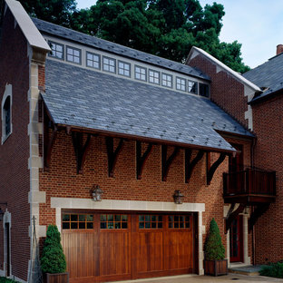 Design ideas for a large traditional attached two-car carport in Other.