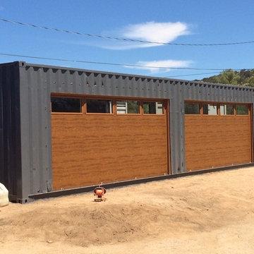 Shipping Container Garage Door