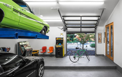 Visto su Houzz: Idee per Arredare il Garage in Modo Spettacolare