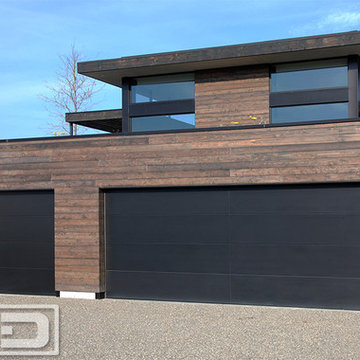 Simple, Modern Style Garage Doors Custom Manufactured for a Residence in the Bay