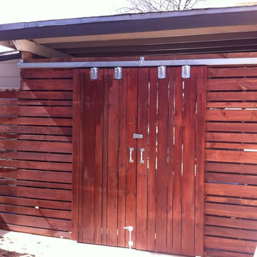 Sliding Barn Doors and Lean-To Storage