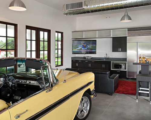 Man Cave Over Garage | Houzz