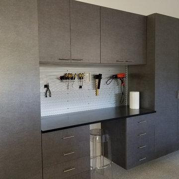 Steelhead Epoxy Garage Flooring & Grey Cabinets   Decatur, GA