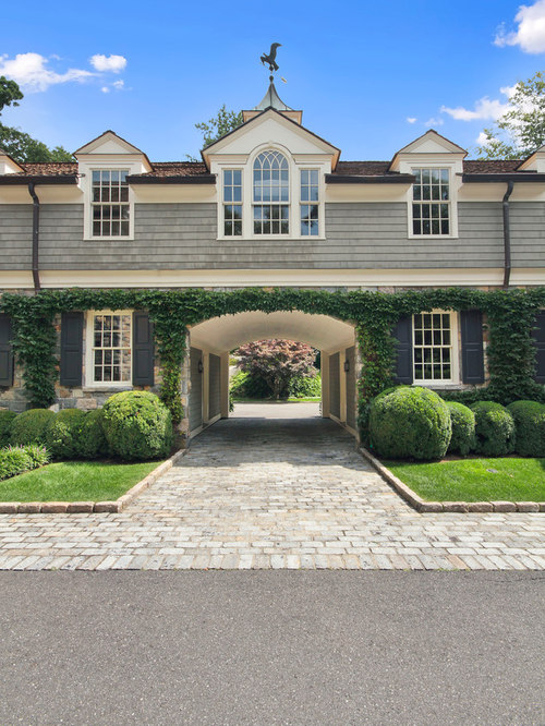 Drive through houzz for House plans with drive through garage