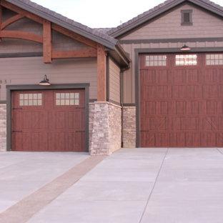 Immagine di garage e rimesse american style