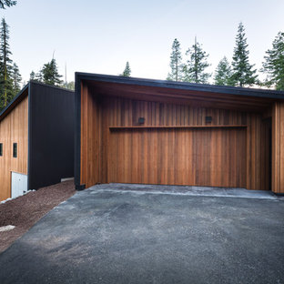 This is an example of a contemporary detached two-car garage in San Francisco.