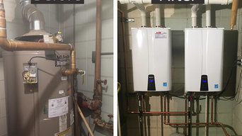 Tankless Water Heater Before and After - Springdale, AR