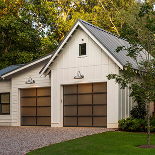 This is an example of a mid-sized country detached two-car garage in Cincinnati.