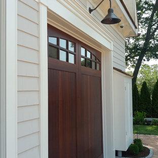Idéer för en mellanstor amerikansk tillbyggd garage och förråd