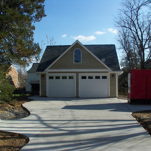 Example of a mid-sized classic detached two-car garage design in Baltimore