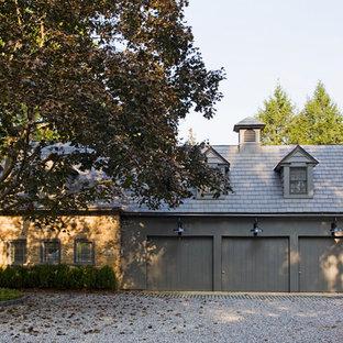 Inspiration for a huge cottage detached three-car garage remodel in Philadelphia